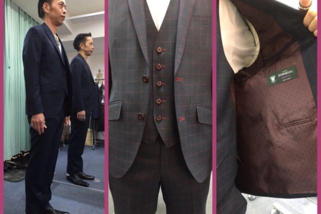 スーツの引き渡しはいつも感動!